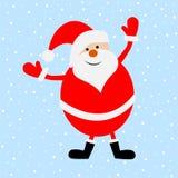 Santa Claus engraçada em um fundo azul ilustração stock