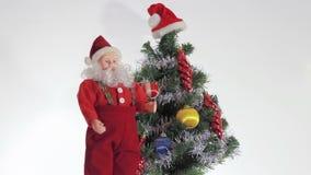 Santa Claus enjoys coming Christmas stock footage