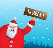 Santa Claus enojada Imagen de archivo libre de regalías