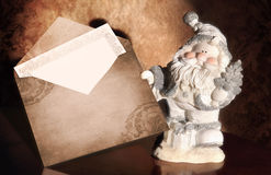 Santa Claus with envelope Stock Image