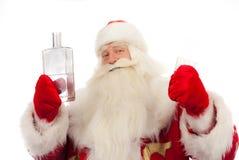 Santa Claus está vertiendo Fotografía de archivo libre de regalías