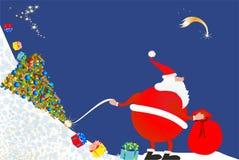 Santa Claus está vindo Fotos de Stock Royalty Free