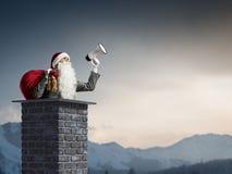 Santa Claus est déjà ici Media mélangé Photos stock