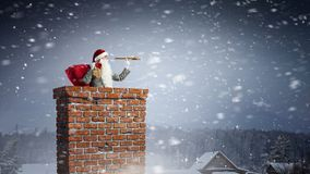 Santa Claus est déjà ici Media mélangé Photos libres de droits
