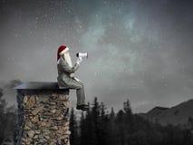 Santa Claus est déjà ici Media mélangé Photographie stock