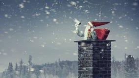 Santa Claus est déjà ici Media mélangé Images libres de droits