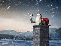 Santa Claus est déjà ici Media mélangé Image stock