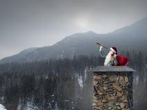 Santa Claus est déjà ici Media mélangé Photo stock