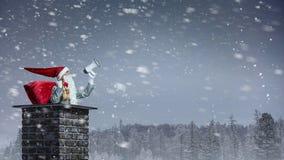 Santa Claus est déjà ici Media mélangé Image libre de droits