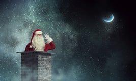 Santa Claus est déjà ici Media mélangé Photo libre de droits