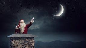 Santa Claus est déjà ici Media mélangé Media mélangé Image libre de droits