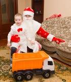 Santa Claus est venue pour visiter Photographie stock libre de droits