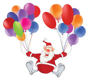 Santa Claus et Toy Balloons mignons Photos stock