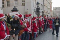 Santa Claus, expediente de Guinness Foto de archivo libre de regalías