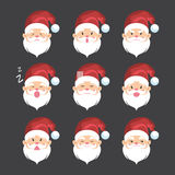Santa claus expression icon Stock Photos