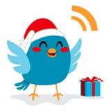Santa Claus fågel stock illustrationer