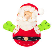 Santa Claus from fabric decoration Stock Image