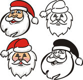 Santa claus - face Stock Photos
