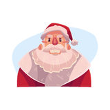 Santa Claus face, angry facial expression Royalty Free Stock Photos