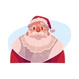 Santa Claus face, angry facial expression Royalty Free Stock Photography