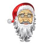 Santa Claus Face. Color Icon Stock Photos