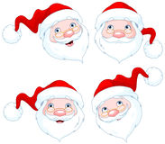Santa Claus Face Expressions Royalty Free Stock Images