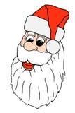 Santa claus face Royalty Free Stock Photos