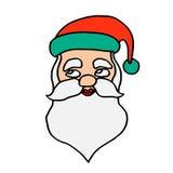 Santa claus face Stock Photos