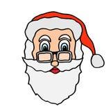 Santa claus face Royalty Free Stock Photo