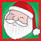 Santa Claus face Royalty Free Stock Photography