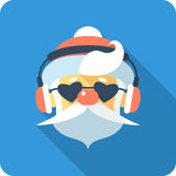 Santa Claus Face icon flat design Royalty Free Stock Image