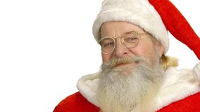 Santa Claus face isolated. stock video footage