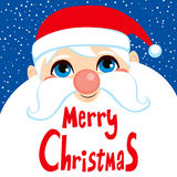 Santa Claus Face Merry Christmas Stock Photo