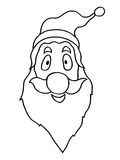 Santa claus face Stock Images