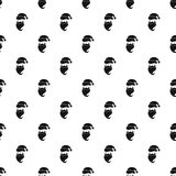Santa Claus face pattern, simple style Stock Images