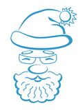 Santa Claus face, pictogram Stock Photos