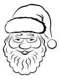 Santa Claus Face, Pictogram Stock Images