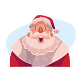 Santa Claus face, surprised facial expression Royalty Free Stock Photo