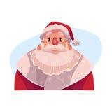 Santa Claus face, upset, confused facial expression, Stock Photos