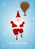 Santa Claus Fall to the sky Royalty Free Stock Image