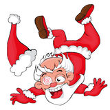 Santa Claus falling.  cartoon style Stock Image