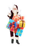 Santa Claus with falling presents Stock Photos