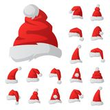 Santa claus fashion red hat modern elegance cap  Stock Image