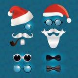 Santa Claus fashion set hipster style Stock Photo