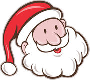 Santa Claus Father Christmas Head Smiling tecknad film Arkivbild