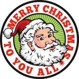 Santa Claus Father Christmas Retro Royalty Free Stock Photos