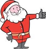 Santa Claus Father Christmas Thumbs Up-Karikatur Lizenzfreies Stockfoto