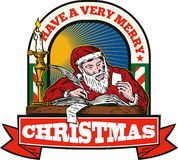 Santa Claus Father Christmas Writing Letter Royalty Free Stock Photo