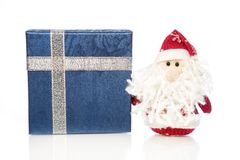 Santa Claus or Father Frost with gift box or present Royalty Free Stock Photography