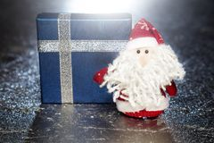 Santa Claus or Father Frost with gift box or present Stock Image